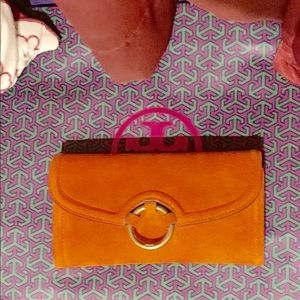 Orange Tory Burch Wallet
